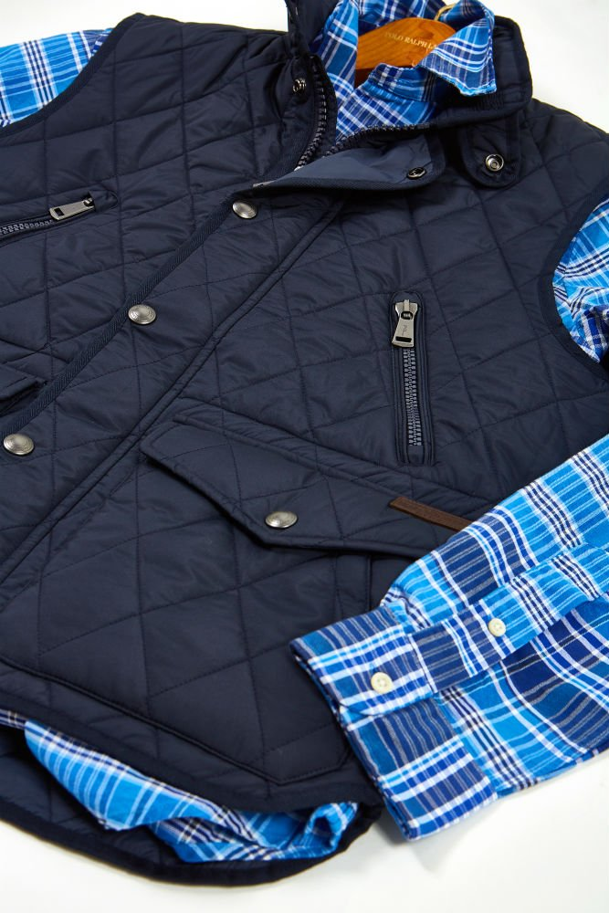 Quilted vesti Polo